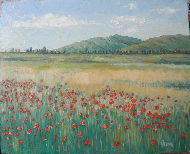 Romanian poppyfield